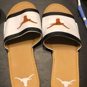 UTA Longhorns sandals. Size 9.